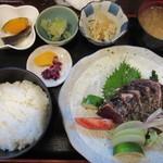 酔鯨亭 - 塩タタキ定食(1,300円)