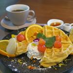 55235572 - 山cafe一歩ワッフル