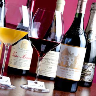 常時120種類以上のワインをご用意しております!