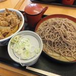そば処 吉野家 - 牛丼とそばセット730円