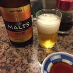 幸寿司 - 先ずはビール。