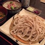 居酒屋 寿毛半 - 武蔵野うどん、ネギトロどんセット ¥850