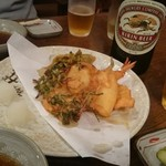 長寿庵 - 天ぷら&クラシックラガー