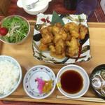 豊の国健康ランド - 料理写真:とり天定食