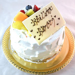 55248529 - 季節の果物のシフォンケーキ