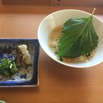 日本料理 山崎 - 茶漬けで