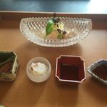 日本料理 山崎 - きじはた 赤いか あまえび