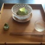日本料理 山崎 - 海そうめん 水蛸 おくら