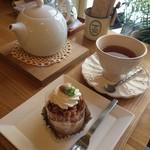 クルミ - CAKE SET【850円】 モンブラン&hot紅茶