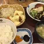 橋本わっぱ定食堂 - 料理写真:チキン南蛮と揚げ出し豆腐の定食