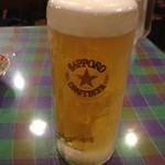 55257440 - キンキンに冷えたな生ビールです