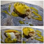TTOAHISU - ◆チーズケーキ・マンゴ添え       レアチーズケーキが滑らかでとても美味しい。マンゴも甘いですよ。