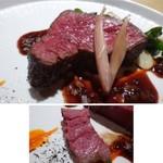 TTOAHISU - *とても柔らかくお肉の旨みを感じる品で、とても美味しい。       ソースも赤ワインベースですけれど、茗荷が入ることで和のテイストを感じ、いい味わいです。