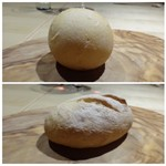 TTOAHISU - ◆パンは2種類。       上:前菜用「桜のパン オ レ」下:お肉用「梅のパン オ リ」・