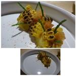 TTOAHISU - ◆トウモロコシのブランマンジェ・・トウモロコシは「肉醤」をかけながら焼いた「焼きトウモロコシ」と       滑らかな味わいのブラマンジェ、2種類のお味を楽しめますが、どちらも美味しい