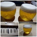 TTOAHISU - ◆暑い日ですのでまずは「ビール(700円)」を。       可愛いグラスですので、最初に頂くには丁度いい量かと。