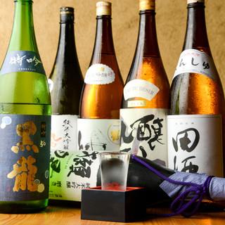 日本酒好きにはたまらない!常時30種以上の品ぞろえ!!!