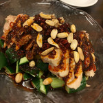 故郷味 - 自家製鶏肉の辛味ソース和え(880円)