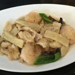 中華ダイニング 深本 - 海老の食感がよかった海鮮炒め