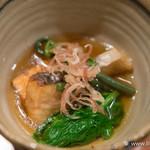 魚菜 由良 - 鰆と春野菜の揚げ出し【2016年3月】
