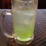 三吉や - 青リンゴサワー
