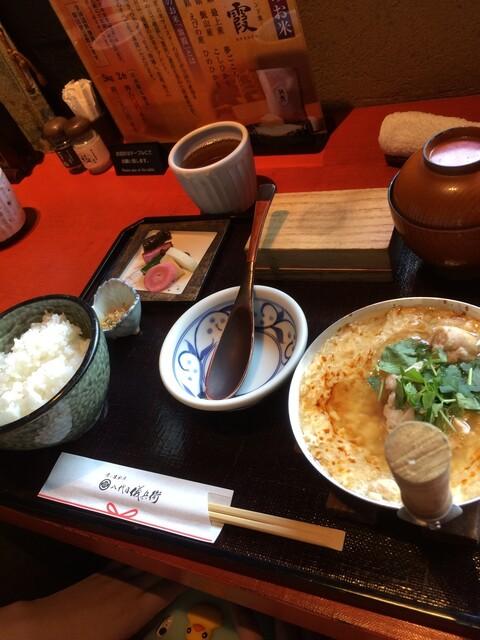 八代目儀兵衛 - 京赤地鶏のあんかけ親子丼銀シャリ御膳 (数量限定)