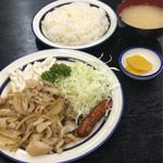 キッチン タイガー - 生姜焼き定食 650円