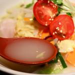 タンメン でこ - 冷たくさっぱり美味しいスープ