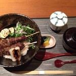 和食  十喜 - 限定5食の黒毛和牛リブロース串焼丼