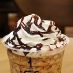 スターバックスコーヒー - コーヒー ジェリー&クリーミー バニラ フラペチーノ+エスプレッソ1ショット+チョコチップ+チョコレートソース
