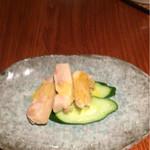 55276473 - 鶏肉とキュウリ、芥子ドレッシング