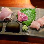 和味 - 鶏刺身3点盛り