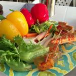 花葡萄 - キッシュに野菜のゼリー寄せ