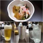 居酒屋 ルビー - お通し(席料)¥430/生ビール¥80/ハイボール¥80/チューハイ¥280