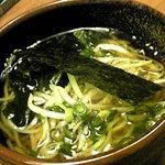 華蔵 - 華コース3675円  〆の一品 冷しラーメン