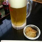 くりはら - 料理写真:生ビール・お通し。