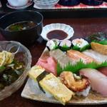 あびる寿司 - すし定食大冷うどん赤だし付き