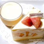 マクーン ヨコハマ - プリンとショートケーキ桃