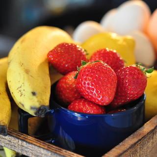 こだわりの採れたて旬の新鮮フルーツ