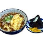 潤 - サービスセット(天ぷらそばとおにぎり一個)670円