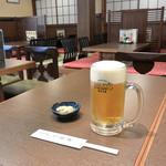 砂場 - 生ビール 中(税別500円)