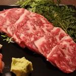 55294715 - 黒毛和牛上カルビ定食1,800円