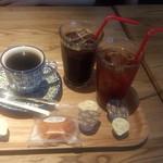 サザコーヒー - 本日のコーヒー(450円)+アイスコーヒー(450円)+アイスティー(450円)+マドレーヌ(190円)