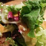 55296505 - 桜山豚の薄切りカツ;サラダの盛り合わせアップ