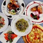 yebisu gogo cafe - ディナーで人気のパスタセットは2名でお得!