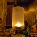 スウィング - テーブルの上のキャンドル