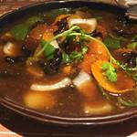55300599 - 鮮魚のフリット黒酢野菜あんかけ