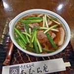 本むら庵 - 料理写真:鴨南うどん_2016-08-27