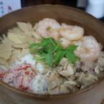 天ぷら漁火亭 - 刺身・わっぱ飯定食(¥1,500-)のわっぱ飯