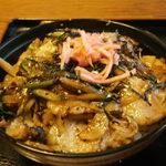 伊豆の佐太郎 - 天城丼(猪)1750円  臭くない・固くない 美味しい!! カルビ丼のようです